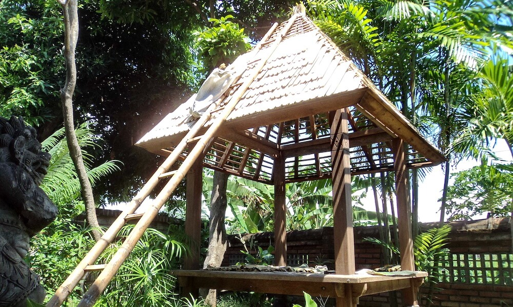 Bamboo Roof in Process