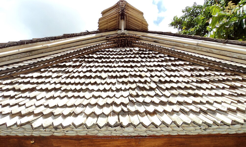 Bamboo Roof Sky View