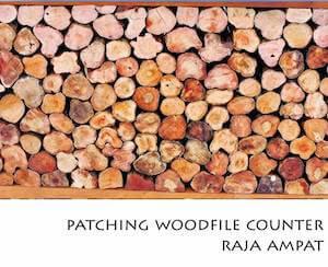 Porfolio Vertical Patching Wood File Counter Raja Ampat
